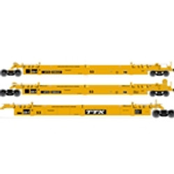Atlas HO Master 20004618 Thrall Triple 53' Articulated Well Car TTX - DTTX #728607