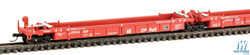 Walthers N 9298101 Thrall 5-Unit Articulated 48' Well Car - Canadian Pacific CP #524326