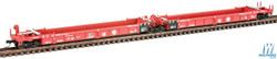 Walthers N 9298103 Thrall 5-Unit Articulated 48' Well Car - Santa Fe SFLC #254165