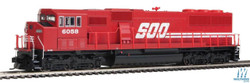 Walthers Mainline HO 910-20309 EMD SD60M 3 Window Cab ESU LokSound/DCC Soo Line #6058