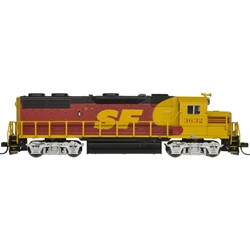 Atlas Master N 40003844 DCC Ready, EMD GP-39-2 Phase 1 Diesel Locomotive, ATSF Kodachrome #3613