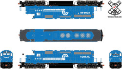 ScaleTrains Rivet Counter HO SXT30962 ESU LokSound DCC & Sound EMD SD40-2 Phase IIc3 Conrail As Delivered #6458