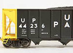 Tangent Scale Models 10813-23 HO Bethlehem Steel 3600 cuft Quad Hopper Union Pacific Original H-100-17 UP#44025