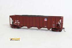Tangent Scale Models 10864-01 HO Bethlehem Steel 3600 cuft Quad Hopper Union Pacific 1989 H-100-16 Red Repaint UP #40181