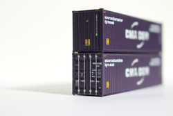 Jacksonville Terminal Company N 405002 40' High Cube  Container CMA CGM Advanced Scheme 2-Pack