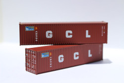 Jacksonville Terminal Company N 405032 40' High Cube  Container BEACON / GCL Dual Scheme 2-Pack