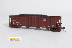 Tangent Scale Models 80019-01 N Bethlehem Steel 3600 cuft Quad Hopper Union Pacific UP Scheme 16 1982 H-100-19 Red Repaint UP #41010