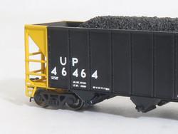 Tangent Scale Models 80020-01 N Bethlehem Steel 3600 cuft Quad Hopper Union Pacific Scheme 17, 1997 H-100-19 Black Repaint Version 3 UP#46460