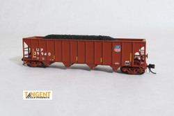 Tangent Scale Models 80023-01 N Bethlehem Steel 3600 cuft Quad Hopper Union Pacific Scheme 20, H-100-16 Red Repaint Conspicuity 2005+ UP#39940