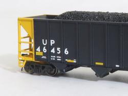 Tangent Scale Models 80025-01 N Bethlehem Steel 3600 cuft Quad Hopper Union Pacific Scheme 23 H-100-19 Black Repaint Conspicuity 2005+ UP#44563
