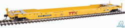 Walthers Proto HO 920-109030 Gunderson Rebuilt A-P 53' Well Car TTX DTTX #470328