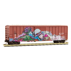Micro Trains Line 993 05 470 Day of the Dead - 50' Rib Side Box Cars - Weathered & Graffiti  - 2 Pack