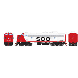 Athearn Genesis HO ATHG22726 DCC Ready FP7 Freight SOO #502-A