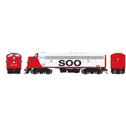 Athearn Genesis HO ATHG22727 DCC Ready FP7 Freight SOO #504