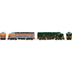 Athearn Genesis HO ATHG22702 DCC Ready F7A & F7A Freight Western Pacific WP #913 & #917