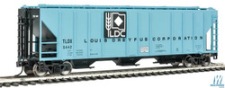 Walthers Mainline HO 910-7279 54' Pullman-Standard 4427 CD Covered Hopper Louis Dreyfus Corp TLDX #5455