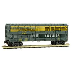 Micro Trains Line 035 00 281  40' Stock Car Chicago & North Western CNW #14303