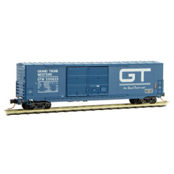 Micro Trains Line 182 00 090 50' Standard Double Sliding Door Boxcar w/o Roofwalk Grand Trunk Western GTW #599835