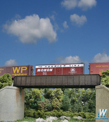 Walthers Cornerstone  HO 933-4502 70' Single-Track Through Girder Bridge - Kit
