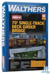 Walthers Cornerstone  HO 933-4507 70' Single-Track Deck Girder Bridge - Kit