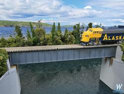 Walthers Cornerstone  HO 933-4508 90' Single-Track Deck Girder Bridge - Kit