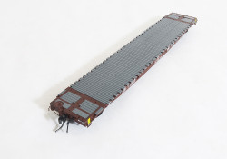 Tangent Scale Models 11025-02 HO GSC 60' Flat Car Missouri Pacific UP MOW Brown Eagle post-2005 - MP #15487