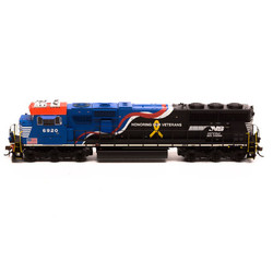 Athearn Genesis HO ATHG65204 DCC Ready SD60E Norfolk Southern Honoring Our Veterans #6920