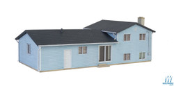 Walthers Cornerstone HO 933-3794 Split Level House - Kit