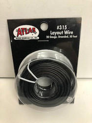 Atlas N/HO #315 Layout Wire 20 Gauge Stranded 50 feet Black