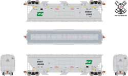 ScaleTrains HO Rivet Counter SXT30401 Gunderson 5188 cf Covered Hopper Burlington Northern Santa Fe BN Heritage - BNSF#485059