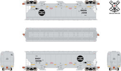 ScaleTrains HO Rivet Counter SXT30779 Gunderson 5188 cf Covered Hopper Burlington Northern Santa Fe C&S Heritage - BNSF#485980
