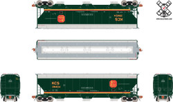 ScaleTrains HO Rivet Counter SXT30818 Gunderson 5188 cf Covered Hopper Kansas City Southern Belle Scheme KCS #286824