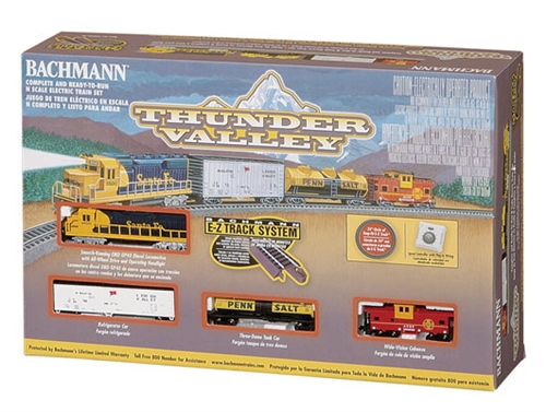 Bachmann N Scale Thunder Valley Train Set-Santa Fe