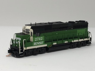 N Scale Charlie Hopkins Special EMD GP-39E BNSF DCC Equipped #2742