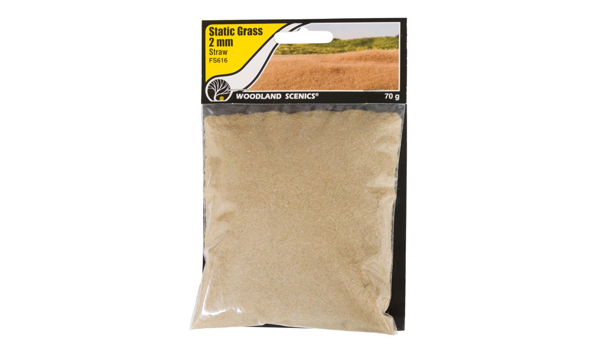 Woodland Scenics FS616 Static Grass 2 mm Straw