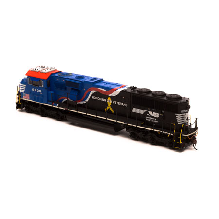 Athearn Genesis HO ATHG65254 SD60E with DCC/Tsunami 2 Sound Norfolk Southern Honoring Our Veterans #6920