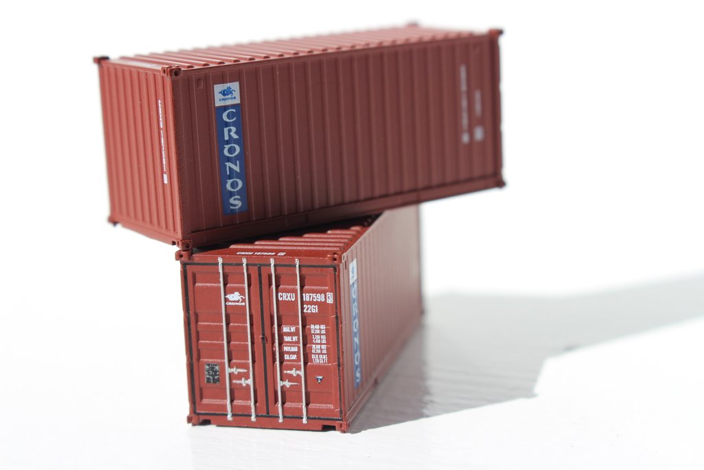 Jacksonville Terminal Company N 205332 20' Standard Height Container CRONOS 2-Pack