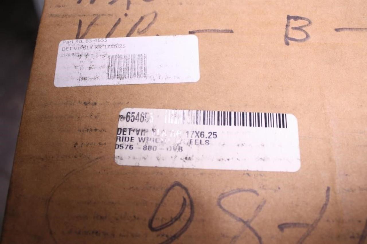 Detroit V.I.P. Harley HD FXST Wheel Rim Rear Black Billet Covert 17x6.25 65-4655
