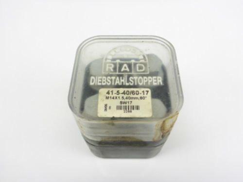 00 Audi TT MK1 1.8T Four 4 Lugs 41-5-40/60-17 M14x1.5,40mm DIEBSTAHLSTOPPER