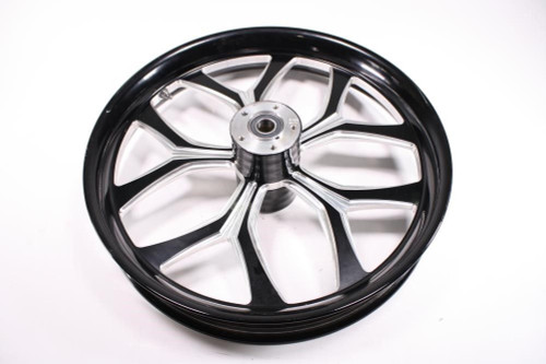 Chicago Hustler Harley HD FLH FLHT Wheel Rim Front Billet Black  21x3.5 65-4329