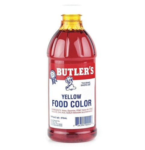 Butlers Yellow Food Coloring - 16 Oz Bottle