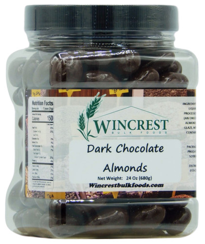 Dark Chocolate Almonds - 1.5 Lb Tub