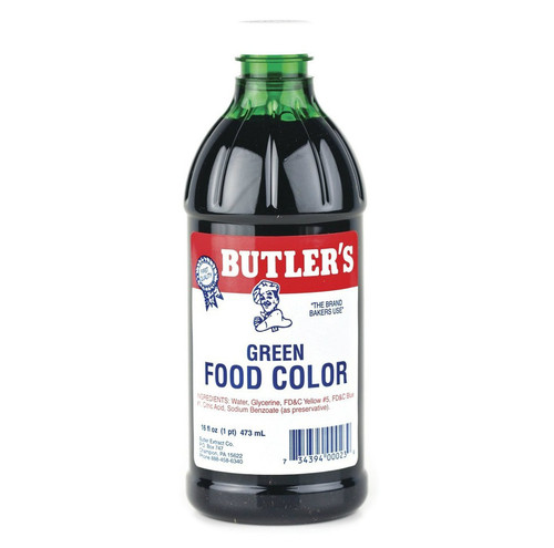 Butlers Green Food Coloring - 16 Oz Bottle