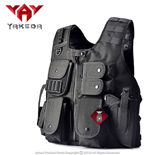 Mastiff Outdoor Tactical Vest Law Enforcement Airsoft Paintball Armor Jacket BK