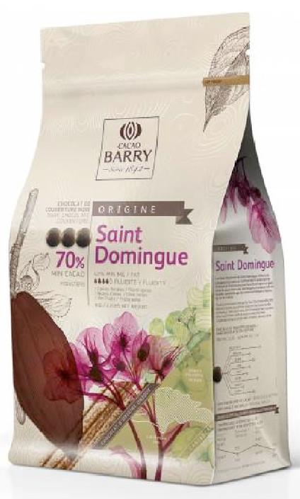 70% Saint Domingue Dark Chocolate 1kg - Cacao Barry