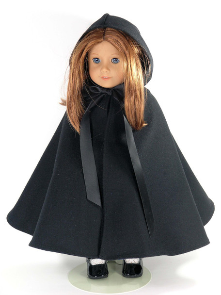 black doll cape