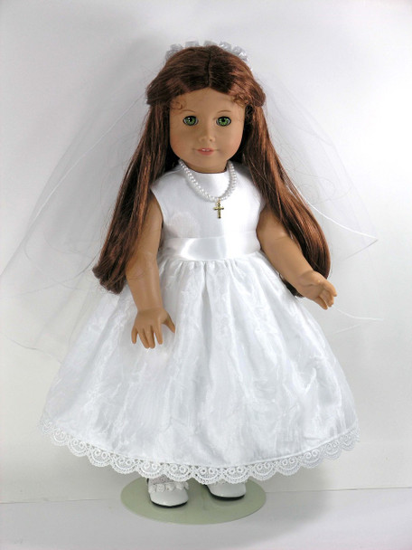 Confirmation doll dress