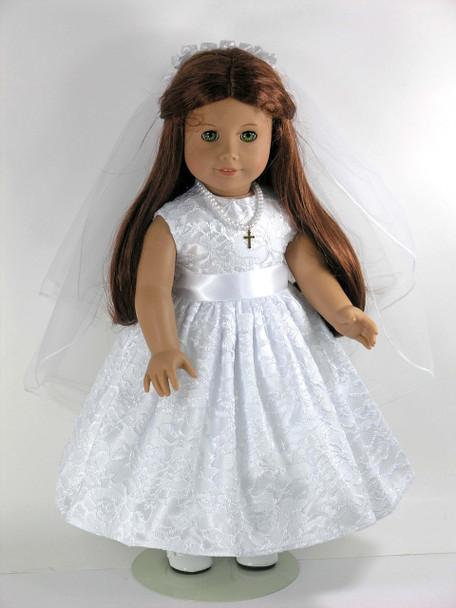 Handmade First Communion doll dress