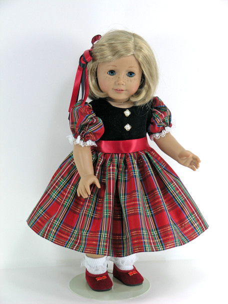 handmade Christmas doll dress
