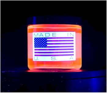 IF2-C7 pint is proudly made in America and fluoresces red under UV lighting